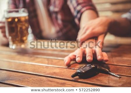 zitting · drinken · alcohol · auto - stockfoto © lightsource