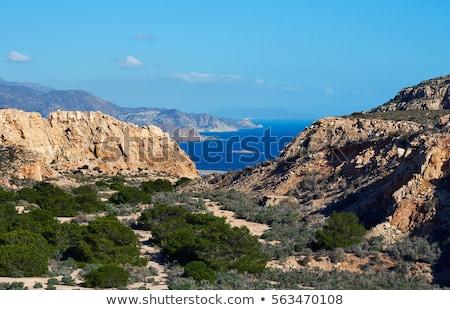 Rocky coastline of Cabo de Gata-Nijar Natural Park. Spain Stock photo © amok