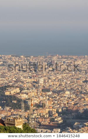 view of Barcelona cityscape from mount. Stock photo © artjazz