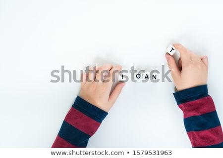 невозможное возможное красный маркер пер Сток-фото © stevanovicigor