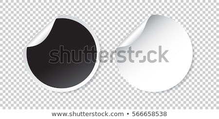black and white blank stickers with curl Stock photo © SArts