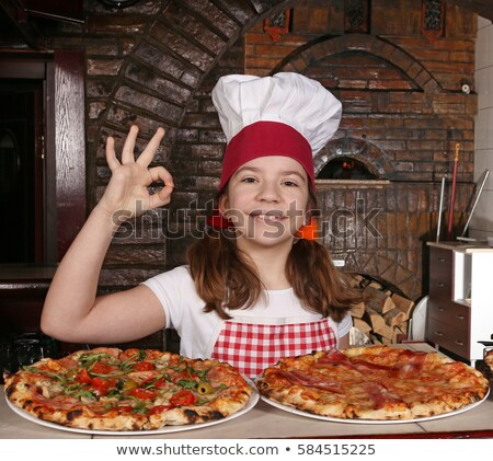 girl in the pizzeria Stock photo © adrenalina