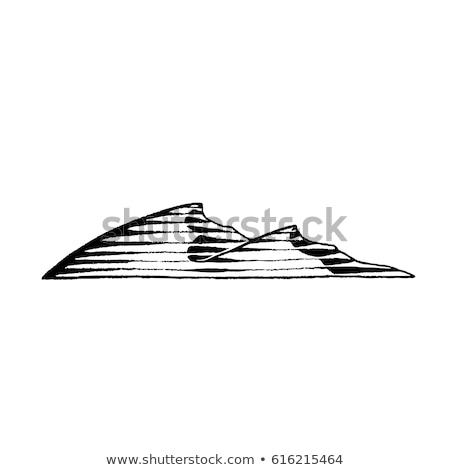 Foto stock: Nosso · esboço · areia · estilo · desenho · mão