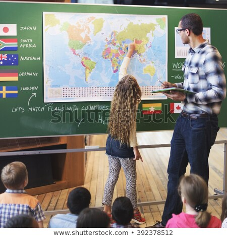 blackboard geography lesson stock photo © romvo
