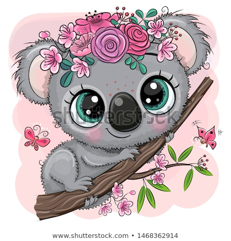 Cartoon Koala with Baby. Vector Illustration Stock photo © robuart