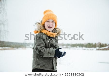 inverno · vestiti · vacanze · isolato · bianco · pittura - foto d'archivio © bluering