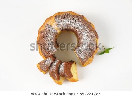 fette · marmo · torta · due · bianco · alimentare - foto d'archivio © Digifoodstock