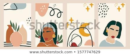 Szett rúzs absztrakt terv nő szexi Stock fotó © doddis