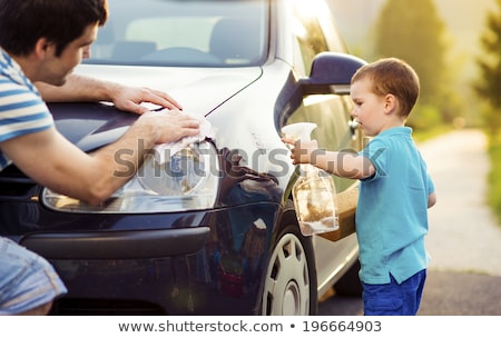 Kids Helping Clean Car stock photo © FOTOYOU