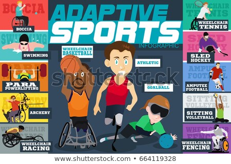 Adaptive Sports Disabled Athletes Infographics Stockfoto © Artisticco