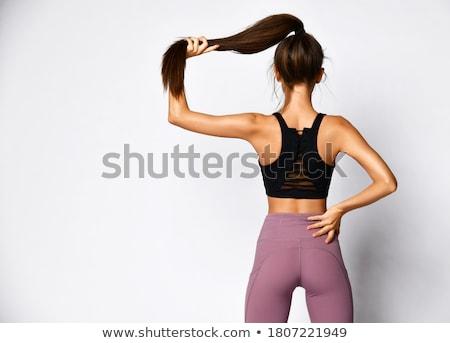 heureux · joli · asian · femme · sexy · lingerie - photo stock © lithian