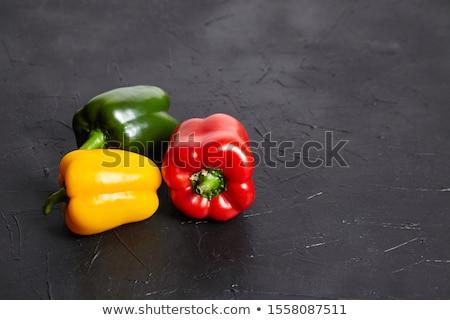 White pepper on dark background Stock photo © yelenayemchuk
