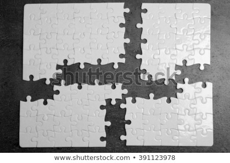 start   puzzle on the place of missing pieces stock photo © tashatuvango
