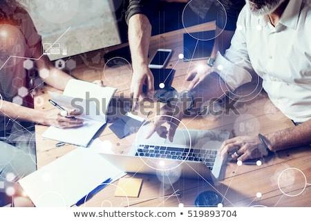 laptop screen with marketing research concept stock photo © tashatuvango