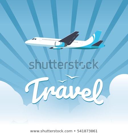 Aviación aeronaves vuelo nubes vector Foto stock © studiostoks