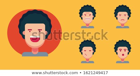 Cartoon boy in flat style Stock photo © Olena