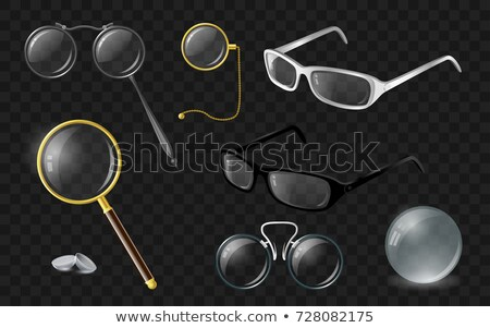 Set of optics - modern vector realistic isolated clip art Stock photo © Decorwithme