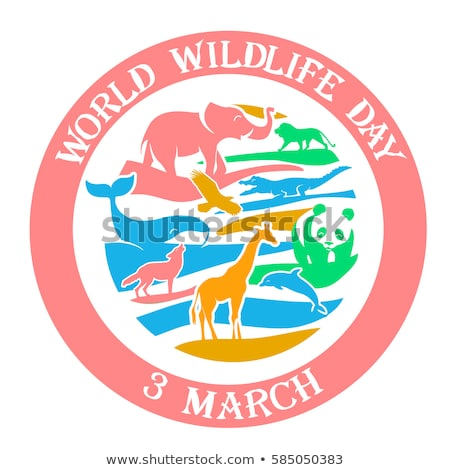 Greeting card Wildlife Day 3 March Stock photo © Olena