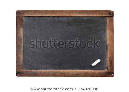 Chalk board isolated on white Stock photo © Coffeechocolates