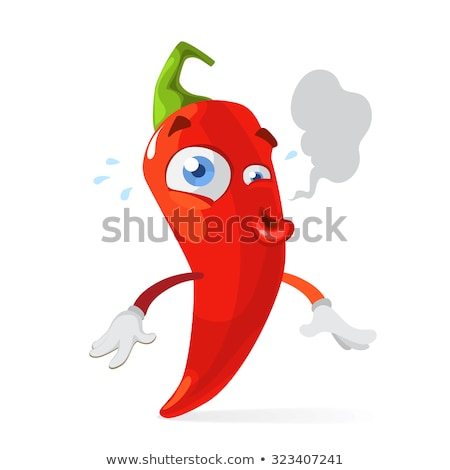 cartoon chilli pepper with maracas and sombrero stock photo © krisdog