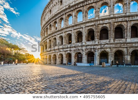 great colosseum in morning stock photo © givaga