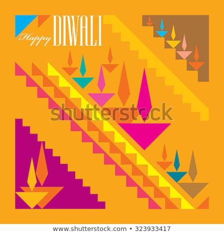 Absztrakt művészi kreatív arany diwali fény Stock fotó © pathakdesigner