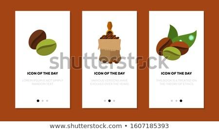 кофейный боб Pack икона вектора стиль графических Сток-фото © ahasoft