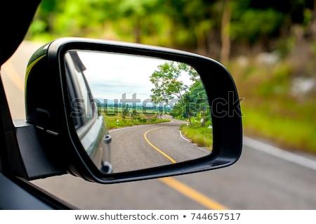 Сток-фото: мнение · сторона · зеркало · автомобилей · небе · дизайна