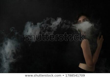 portre · kadın · duman · siyah · güzellik · genç - stok fotoğraf © lightfieldstudios