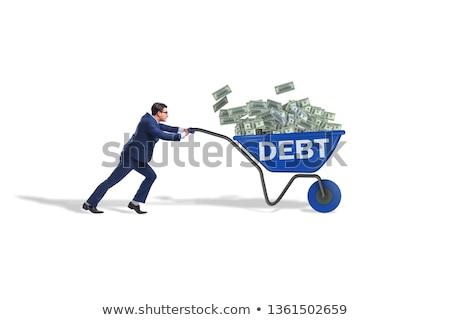 man pushing wheelbarrow Stock photo © IS2