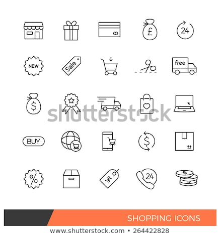 silhouette cart  store 24  linear  Stock photo © Olena