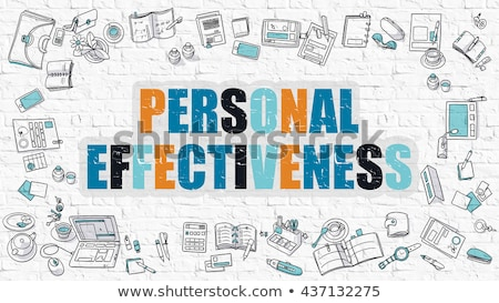 Multicolor Personal Effectiveness on White Brickwall.  Stock photo © tashatuvango