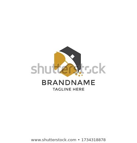 Logo mijnbouw bitcoin valuta werknemer business Stockfoto © popaukropa