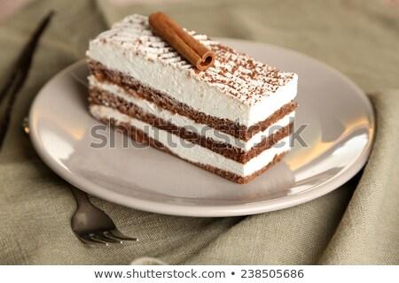 Тирамису специи кофе фон торт Sweet Сток-фото © M-studio