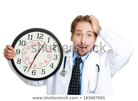 врач будильник рук время назначение Сток-фото © stevanovicigor