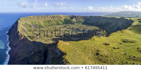 Rano Kau volcano crater in Easter Island Stock photo © daboost