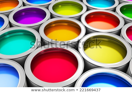 Brush paint, CMYK color print. Stock photo © rwgusev