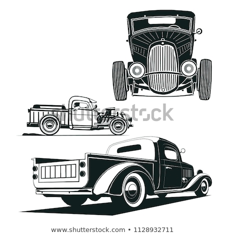 Truck Front black and white illustration clip-art image Stock photo © vectorworks51
