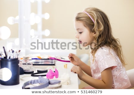 Little girl with cute doll  Stock photo © bluering