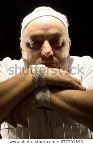Nagy teniszező pihen adatbázis közelkép pihenés Stock fotó © IS2