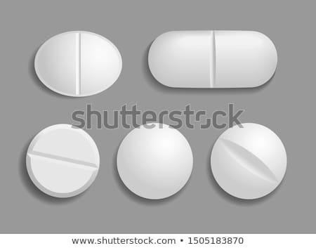 Mentő tabletták kreatív gyógyszer egészségügy drogok Stock fotó © Fisher