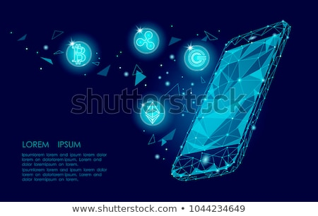 Ethereum cryptocurrency in hand Stock photo © stevanovicigor