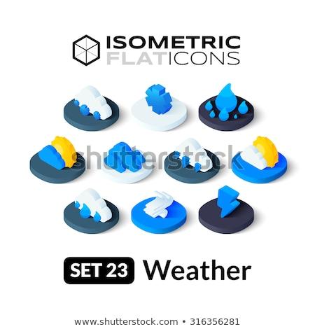 Izometrik ikon yalıtılmış renk vektör simge Stok fotoğraf © sidmay