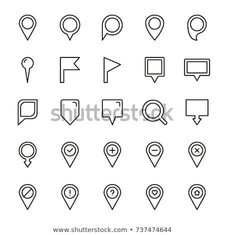 Foto stock: Mapa · pin · ícone · linha · estilo · terra