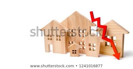 Alloggiamento prezzo drop mercato immobiliare home mercato Foto d'archivio © milsiart