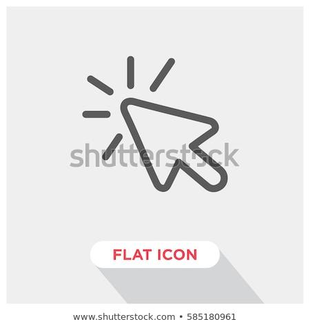 Tıklayın vektör ikon imleç simge modern Stok fotoğraf © kyryloff