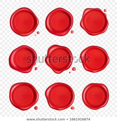 Piros bélyeg irat prémium minőség terv Stock fotó © Zerbor