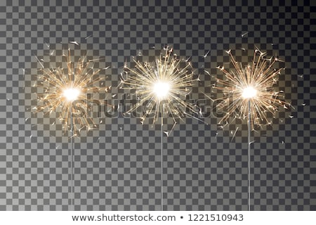 Stock photo: illustration of birthday candles isolated on a white background.