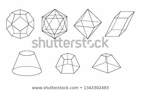 Cono prisma 3D geometrica forme bianco Foto d'archivio © robuart