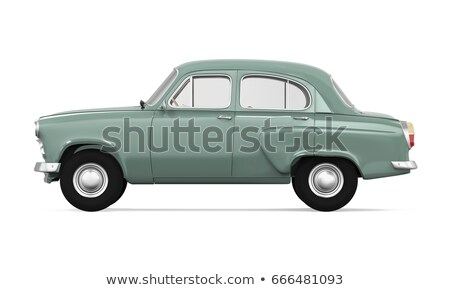 öreg · régi · autó · izolált · fehér · terv · sebesség - stock fotó © ava